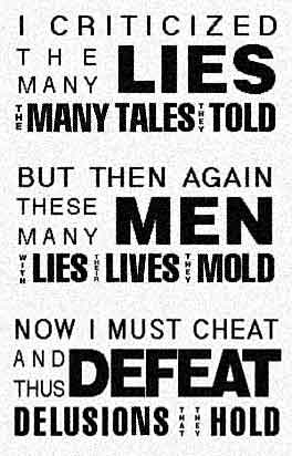 I criticized the many LIES...